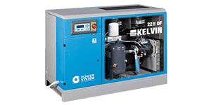 KELVIN - Screw - Oil Lubricated - Belt Driven air compressors